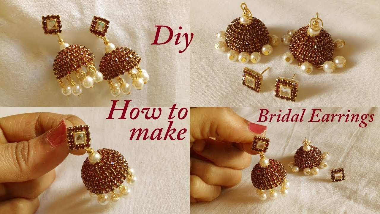 how to make thread earrings
