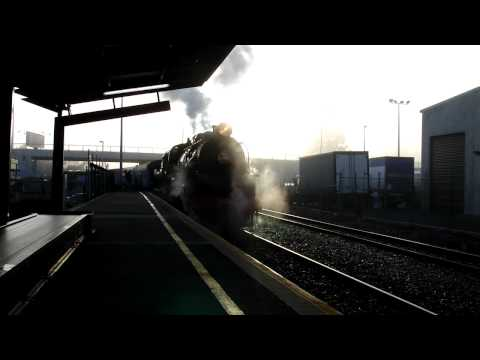 JB1236 Coupling at Christchurch Station - in HD! (Arthurs Pass Steam Excursion, 9th August 2009)