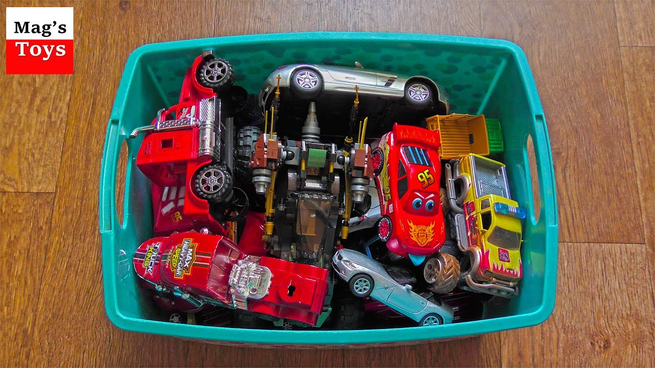 Box Of Toys! Lots Of Toy Cars Taken Out Of The Box