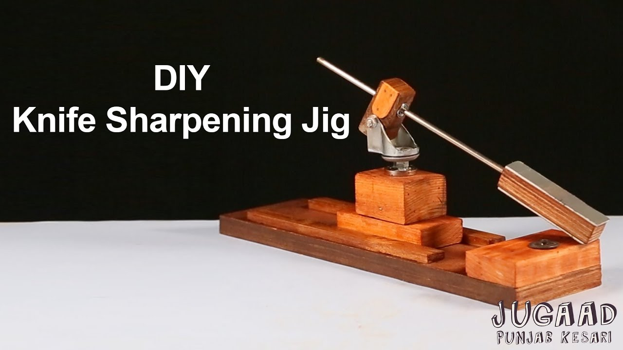 How to make Knife Sharpening Jig - YouTube