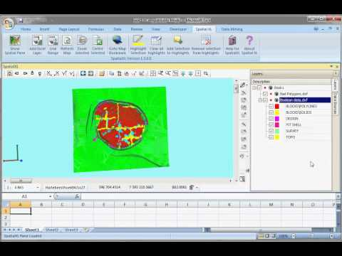 Load a DXF file in Excel:  SpatialXL