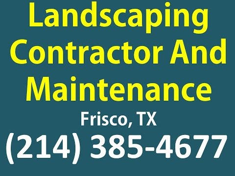 Landscaping Contractors Dallas Tx