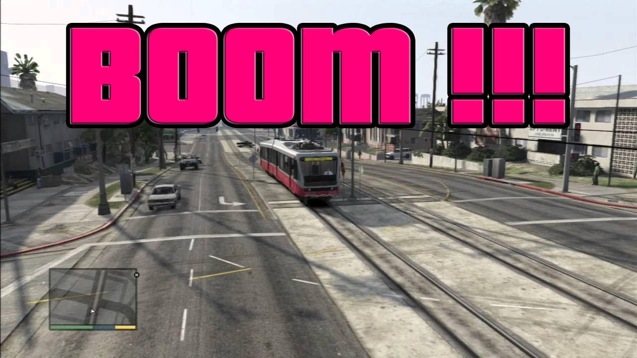 Gta V Online Boom J Ai Explosé Le Tramway Youtube