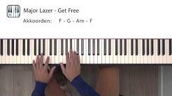 Major Lazer - Get Free (piano tutorial)