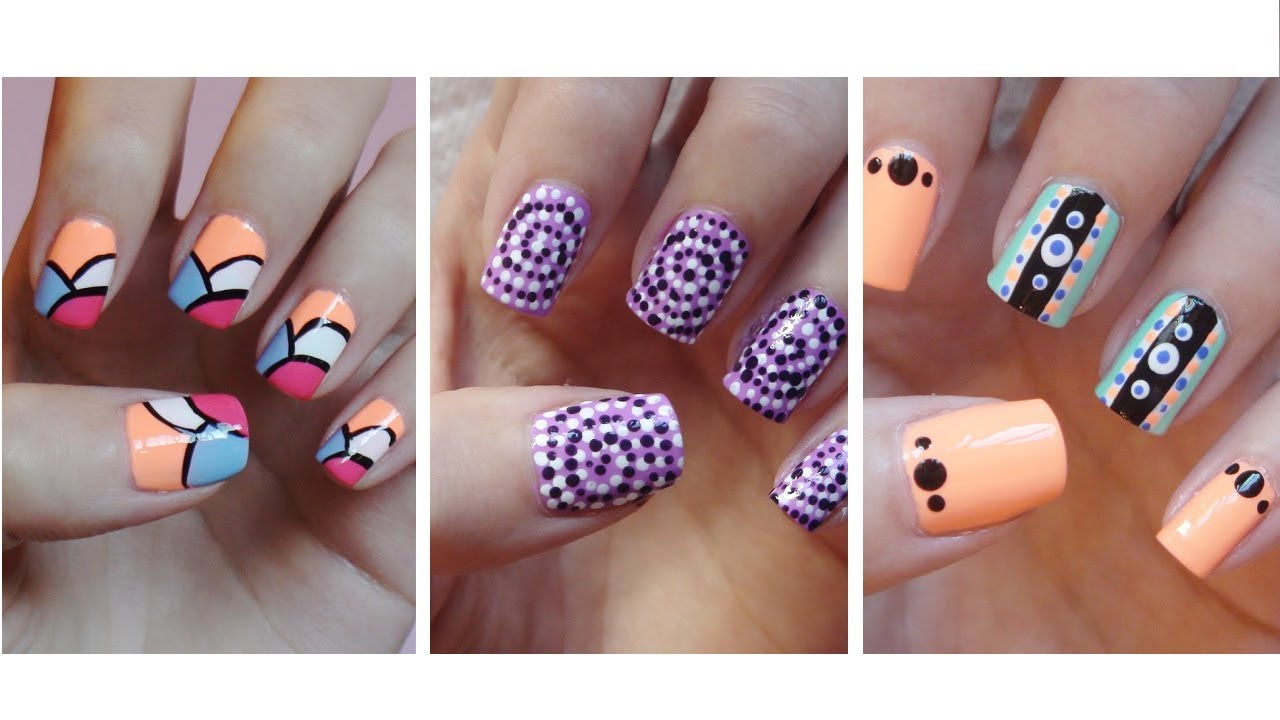 Easy nail art for beginners 9 youtube prinsesfo Images