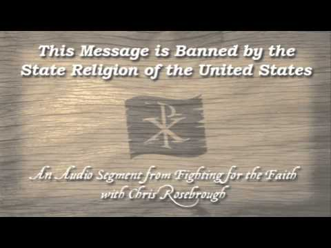 This Message is Banned by the State Religion of the United States