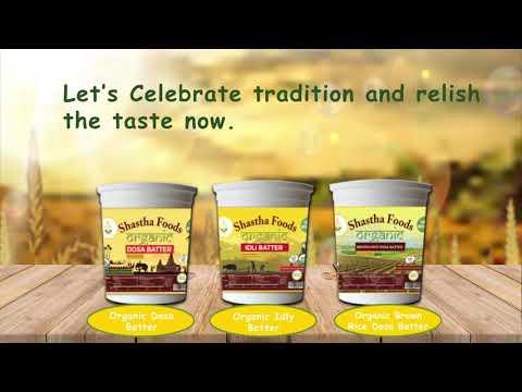 Shastha Organic Dosa| Shatha Idly| Brown Rice Batter