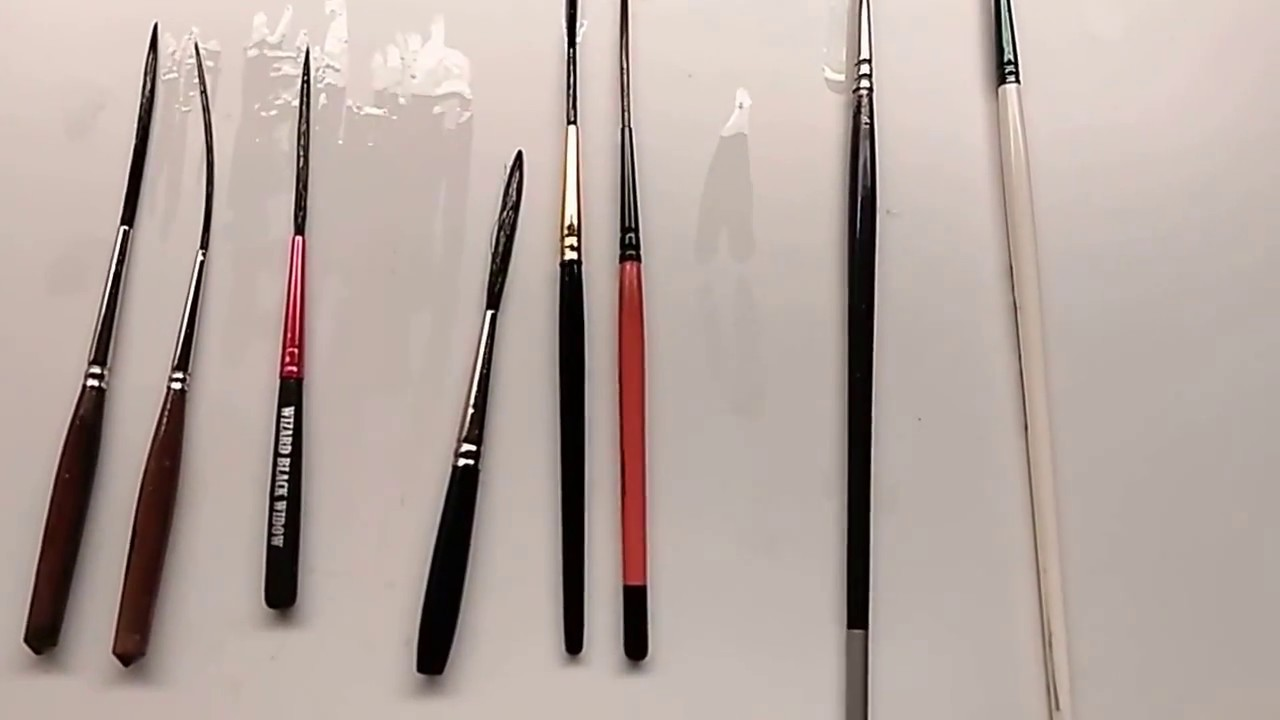 Pinstriping Scroll Brush Sizes Youtube