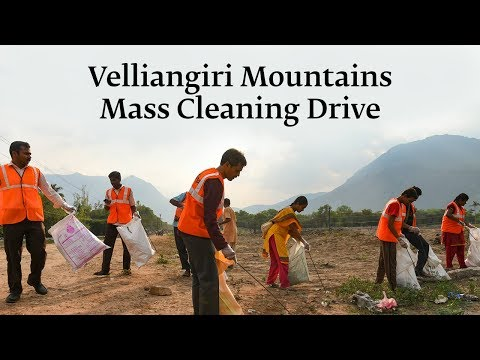 Velliangiri Mountains Mass Cleaning Drive