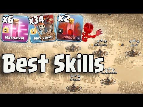 Best Skills 3 Lava 34 Balloon 6 Haste 2 Skeleton Spell Easy 3 Star Any War Bases |Clash Of Clans War
