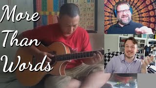 Music Teacher & Kyle Walz React to Alip_Ba_Ta More Than Words Extreme Acoustic Guitar Cover Reaction