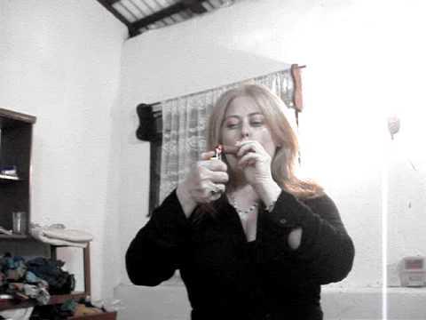 First cigar smoking video alhana winter digital 8 amateur start - 2 2