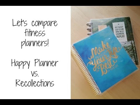 Let\u0027s compare fitness planners Happy Planner vs Recollections