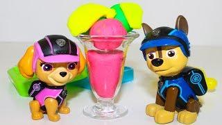 Игрушки Щенячий патруль Мультики УЧИМ ЦВЕТА Развивающие мультфильмы для детей про Плей До мороженое