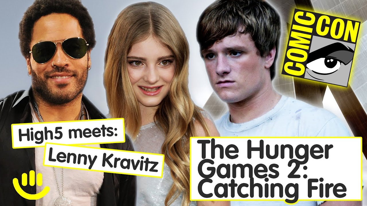 Lenny Kravitz, Josh Hutcherson, Willow Shields - Catching Fire Interview [Part 1]
