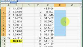 Using Excel's DataTable function for a basic simulation