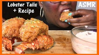 ASMR Fried Lobster Tails   Recipe and Extreme Eating Sounds ...
