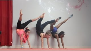 Stretch, Jump, and Turn   Gymnasts at the Dance Studio   Acroanna