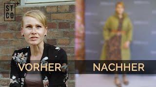Vorher-Nachher Umstyling: Haarschnitt für dünnes Haar & Kantige Gesichtsform kaschieren