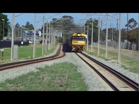 Indian Pacific going past Ashfield station