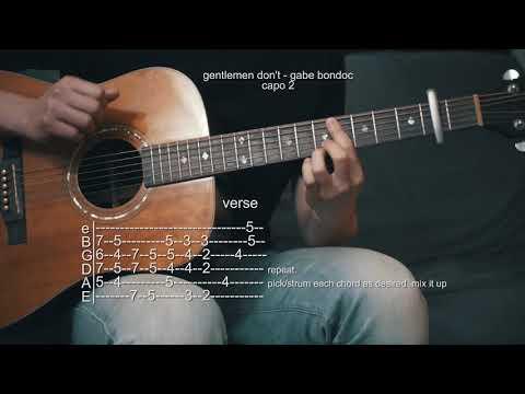 How To Play Gentlemen Don't - Gabe Bondoc - Guitar Tabs