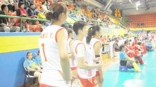 Ting Zhu (Team China) vs. Natalia Malykh (Team Russia) - Montreux Volley Master 2014