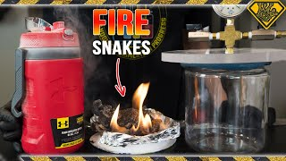 Fire Snakes in Liquid Nitrogen