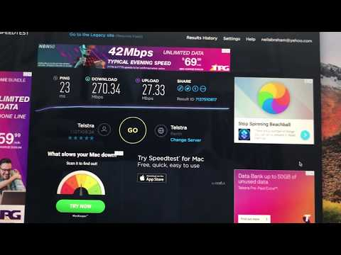 Fastest 4G Speedtest 273MBps in Perth Australia