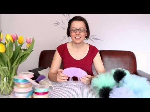 jak zrobić pompon z tiulu - dekoracje na wesele