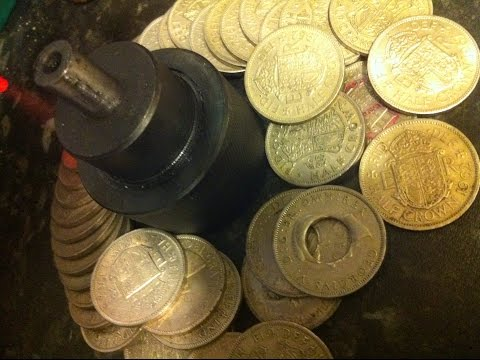 new coin ring punch 30/01/15 ( hydraulic press.)