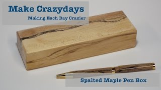 Spalted Maple Pen Box