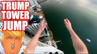 I JUMPED OFF THE TRUMP TOWER!!!  (RAW Footage)