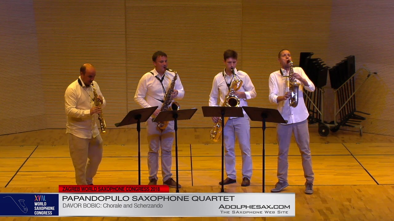 Chorale & Scherzo by Davor Bobic    Papandopulo Saxohone Quartet   XVIII World Sax Congress 2018 #ad