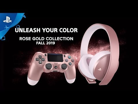 Rose Gold Headset and DualShock 4 | PS4