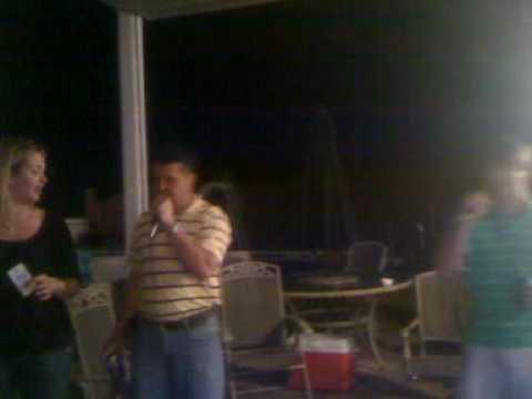 Heath Hines singing Karaoke