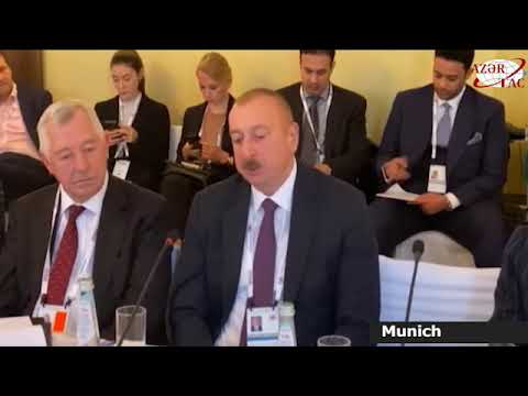 President Ilham Aliyev attended Energy Security round table as part of Munich