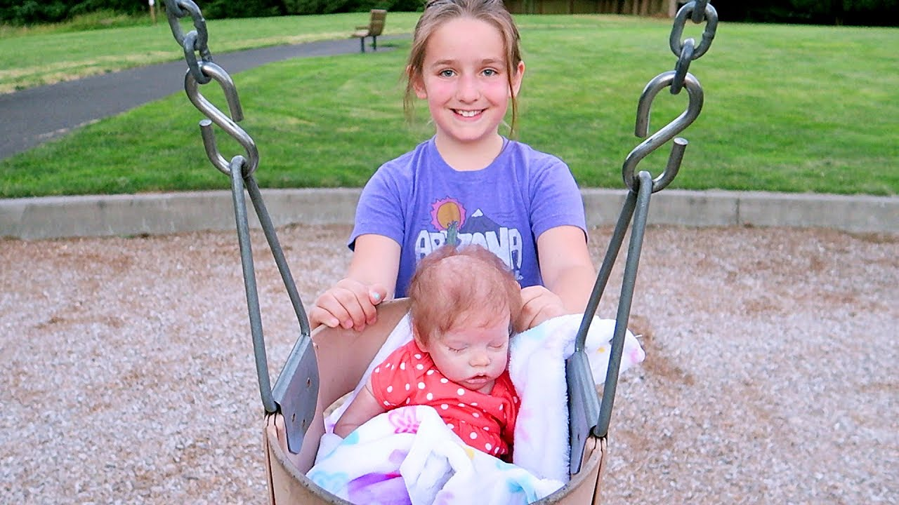 Reborn Baby Doll Day In The Life Diaper Change Park Outing