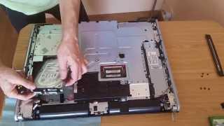 desmontaje paso a paso ordenador hp IQ500 cambio de disco duro