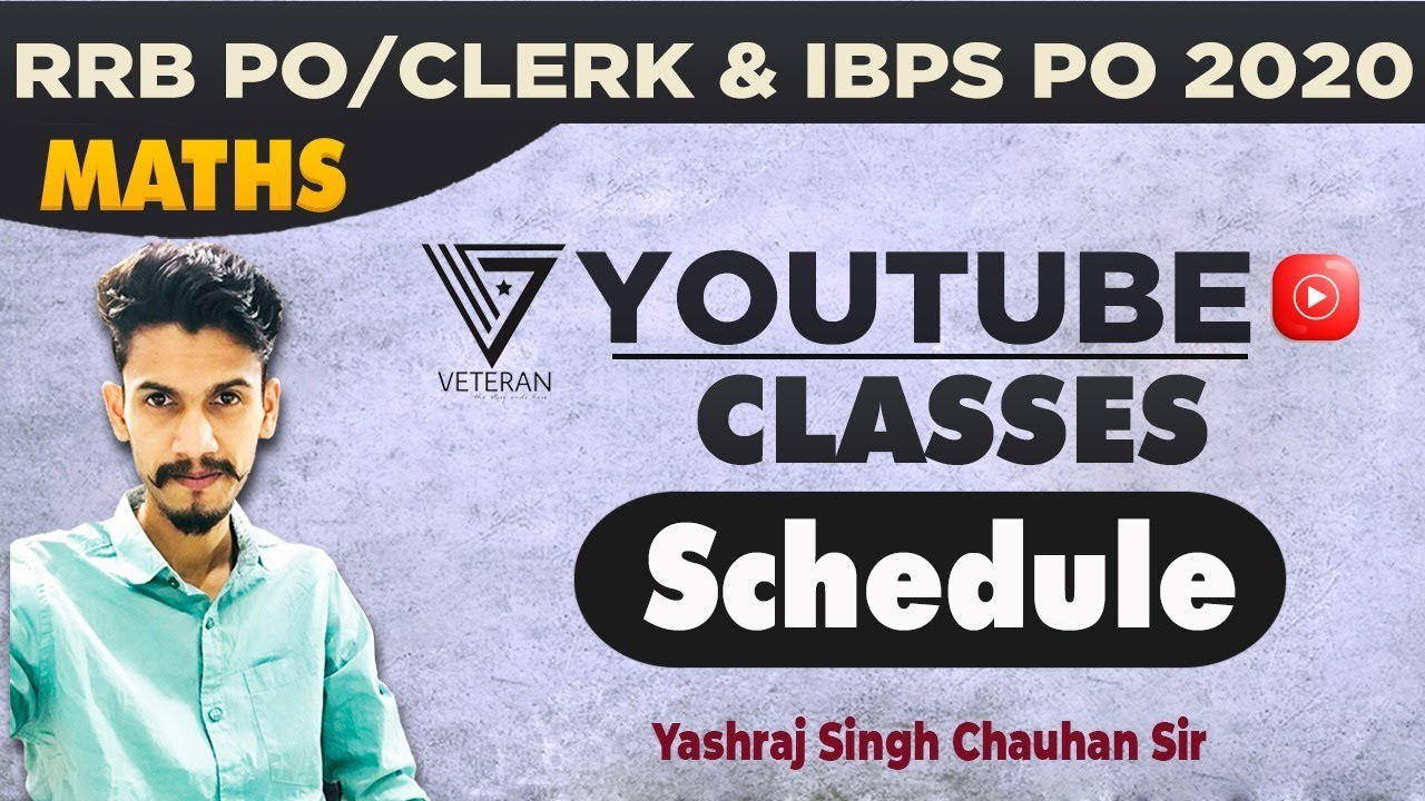 Youtube Classes Schedule   By Yashraj Sir   RRB PO/CLERK   IBPS PO   Learning Capsules by Concept