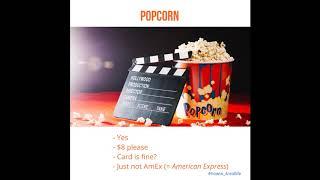 Как купить билеты в кино и попкорн в Америке. Диалог с носителем