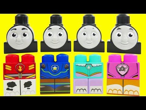 Thomas the Train heads on Paw Patrol Body