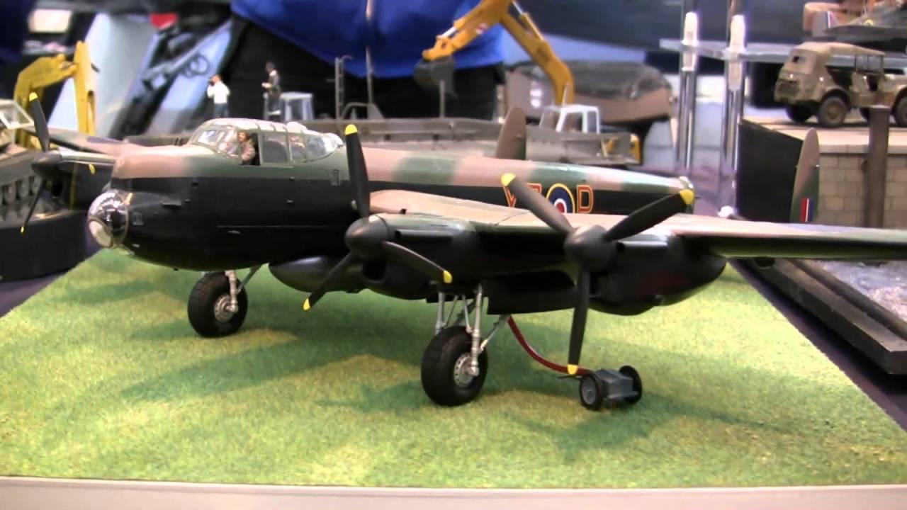 Shropshire Model Show Lancaster Start-up - YouTube