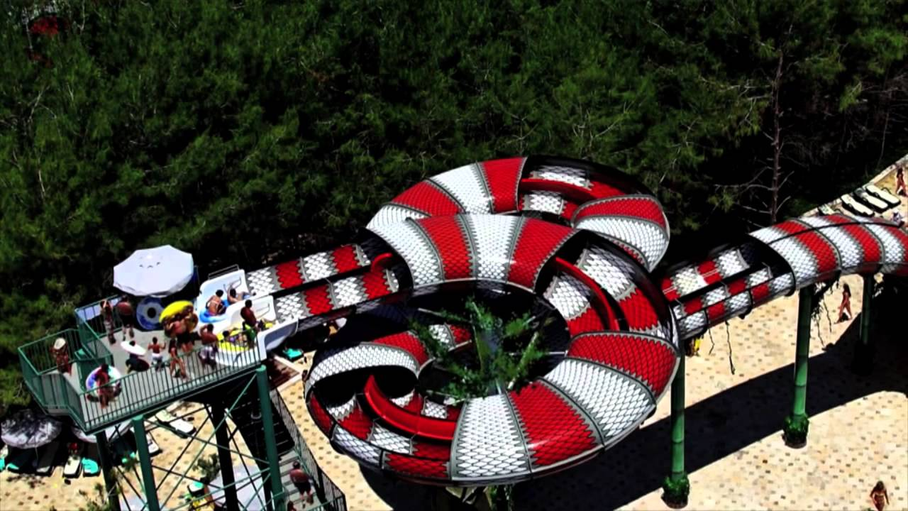 New Water Slide at Six Flags Hurricane Harbor / Great ...