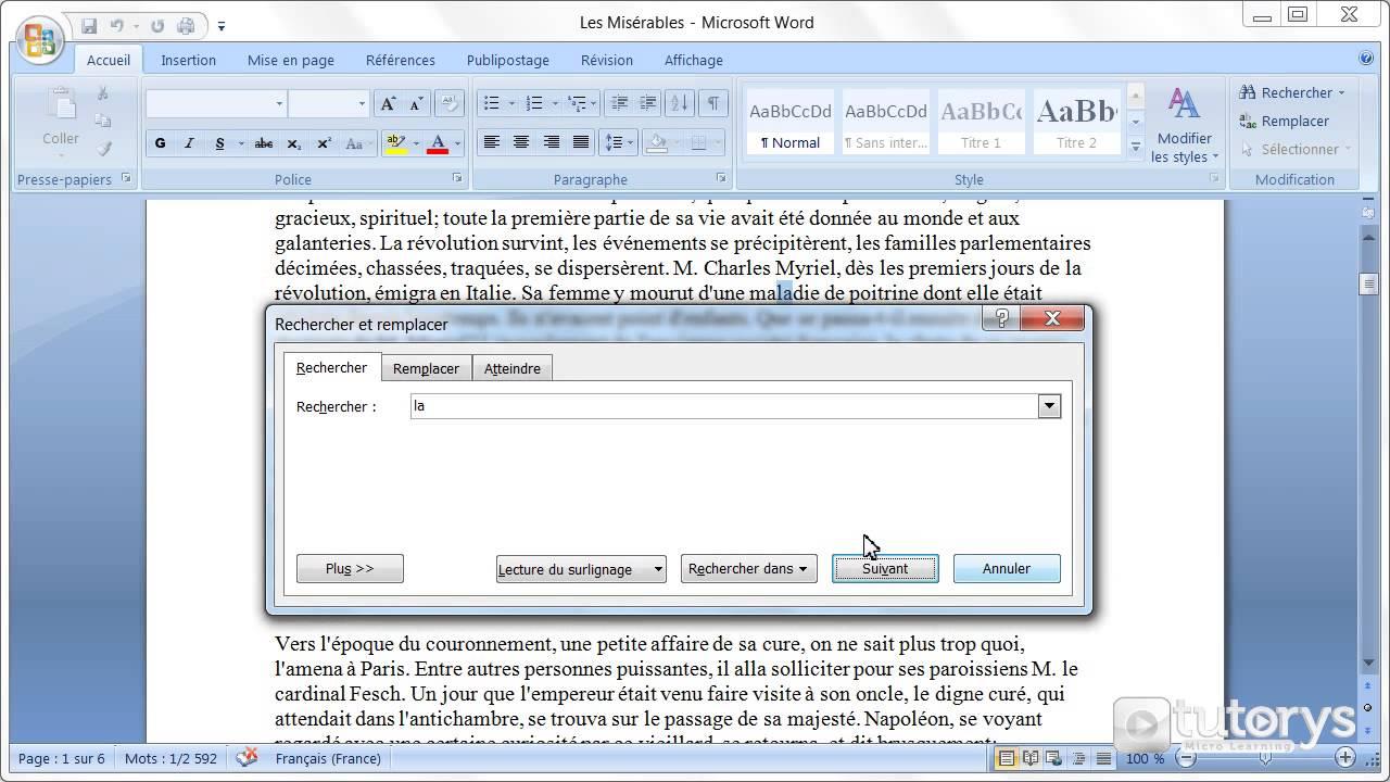 Comment utiliser la recherche avanc e avec word 2007 for Comment utiliser la filasse