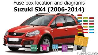 fuse box location and diagrams: suzuki sx4 (2006-2014) - youtube  youtube