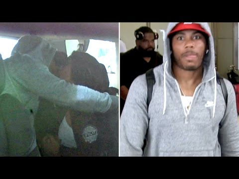 Nelly Showers GF Shantel Jackson With Kisses At LAX As He Tries To Avoid Jail Time With #SaveNelly