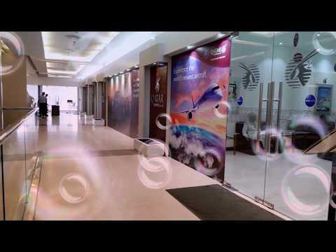 Qatar airways. Office in bangladesh. Bangladesh..