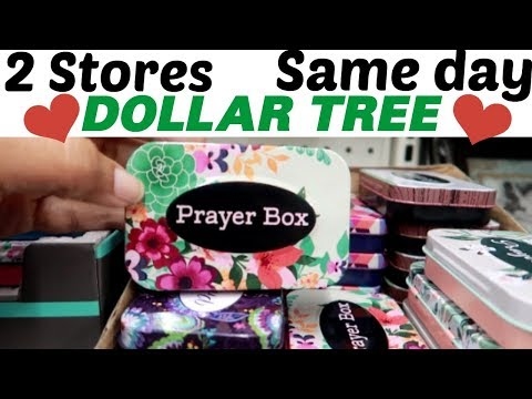 DOLLAR TREE * 2 STORES  1 DAY /HOW DIFFERENT ARE THEY??
