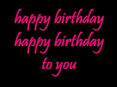 happy birthday song  lyrics