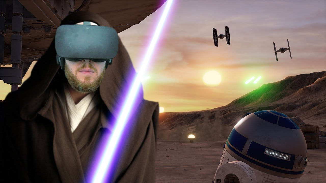 I AM ONE WITH THE FORCE!! Star Wars Trials On Tatooine Oculus Rift & Oculus Touch - Virtual Real